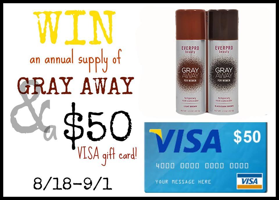 Gray Away & $50 VISA Gift Card Giveaway
