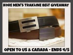 Kore Men's Trakline Leather Belts Giveaway
